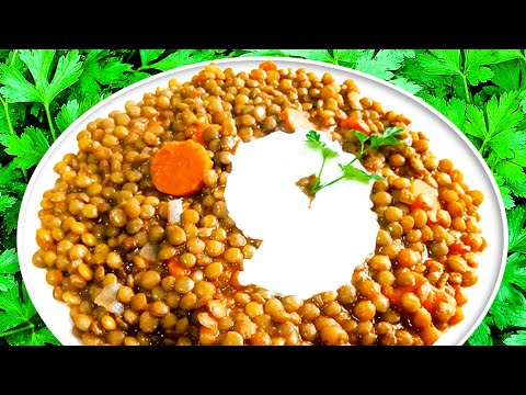 French Green Lentils with Garlic & Tomatoes