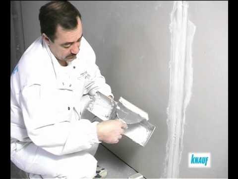 видео: Как правильно клеить гипсокартон на Кнауф Перлфикс