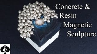 How to Make a Concrete and Epoxy Resin Magnetic Sculpture Cube Paperweight