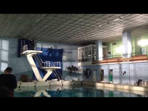 Видео со съёмок сериала : Прыжок в бассейн | Чернобыль - Зона Отчуждения | Смотреть всем