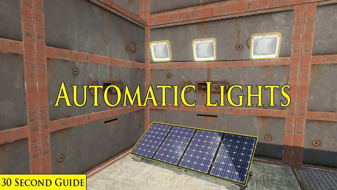 Automatic Lights In Rust 30 Second Tutorial YouTube