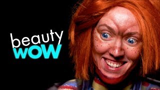 THIS CHUCKY MAKEUP IS CHILDHOOD NIGHTMARES | BEAUTY WOW
