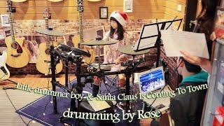 2014 Little drummer boy + Santa Claus Is Coming To Town drumming by...