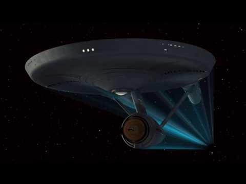 Star Trek TOS Enterprise out of Warp Approach
