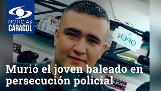 Murió el joven baleado en persecución policial a una lujosa camioneta en Medellín
