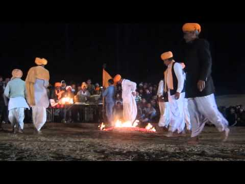 Fire Dance At Bikaner Camel Festival 2014 In Rajasthan, India. January 2014