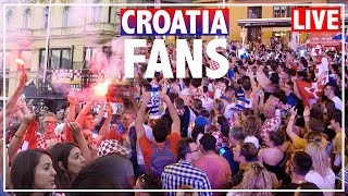 CROATIA FANS REACTION + WILD CELEBRATION AFTER 3-0 WIN vs Argentina | WORLD CUP 2018 LIVE in CROATIA