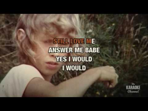 If I Were A Carpenter in the style of Bobby Darin | Karaoke with Lyrics
