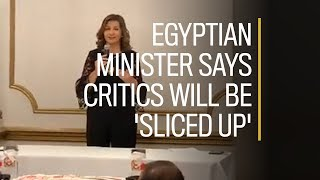 Egyptian minister tells Canadians anyone who criticizes her country will be 'sliced up'