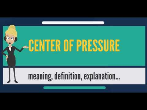 What is CENTER OF PRESSURE? What does CENTER OF PRESSURE mean? CENTER OF PRESSURE meaning
