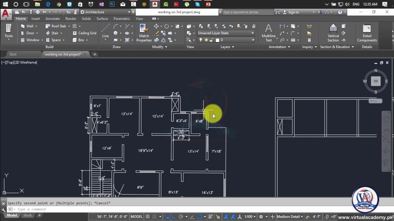How to make 2d floor plan in autocad 2017 autocad 2d and for Barhocker 2d cad