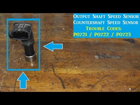 Output Shaft Speed Sensor Replacement P0721 / P0722 / P0723