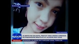 Saksi: 16 anyos na dalagita, pinatay saka ginahasa ng pamangking binatilyo at lalaking may edad