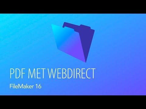 FileMaker Server 16 - PDF Met WebDirect
