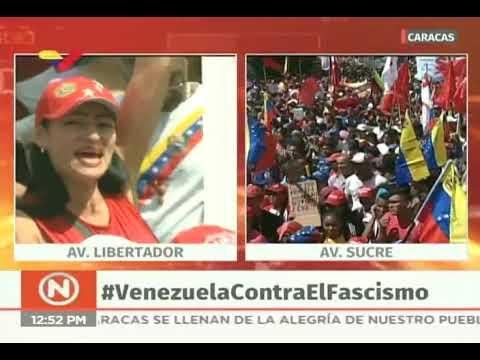 Ernesto Villegas en la marcha contra el golpe de Estado en Bolivia, 16 noviembre 2019