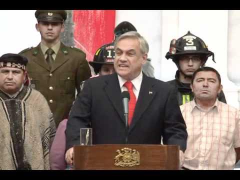Cuenta pública Presidente Piñera - Terremoto y reconstrucción