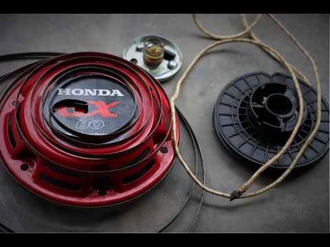 How to Fix Honda Pull Starter Cord and  Recoil Spring at Home . |DIY|
