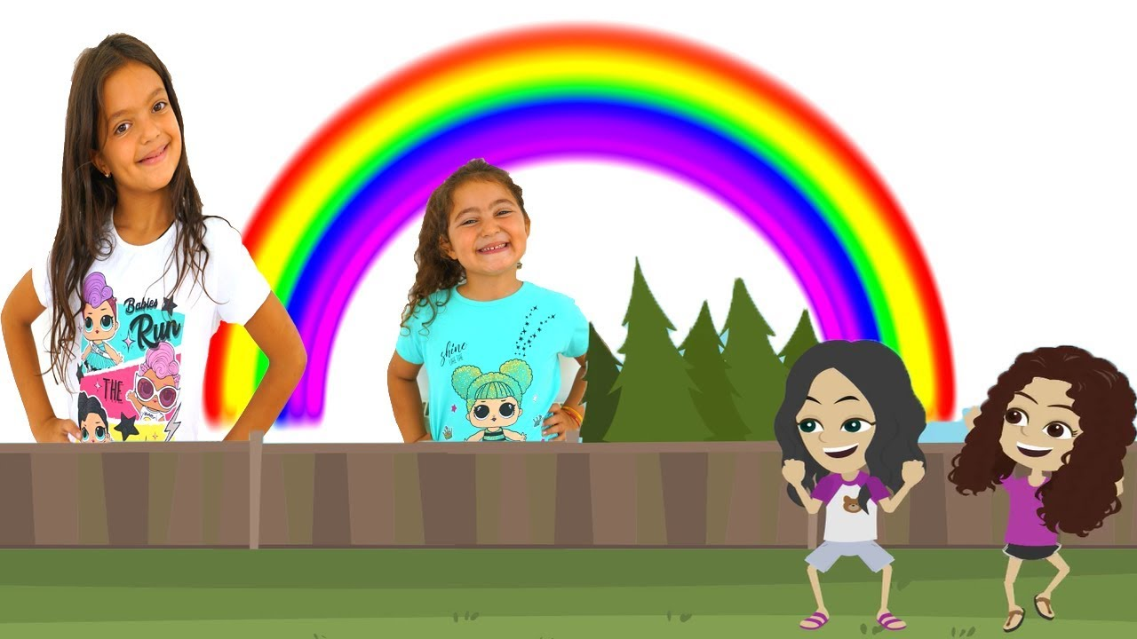 Masal And Oyku Animation Learn Colors With Rainbow Youtube Learning Colors Animation Rainbow
