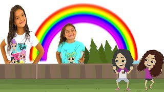 Masal and Öykü animation - Learn Colors with Rainbow