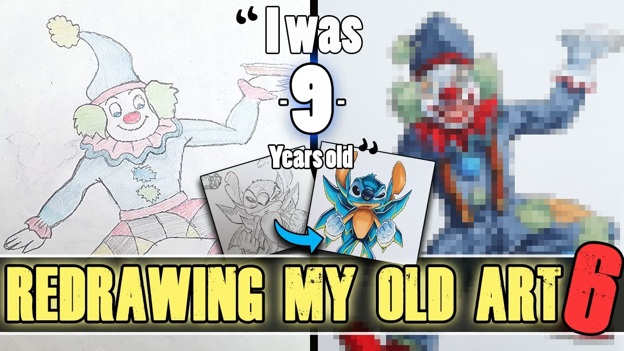 """Redrawing my OLD Art - 20 Years Ago - """"I was only 9 Years old..!"""""""