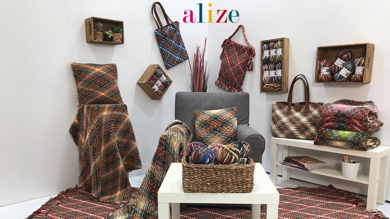 Ekose Calismasi Working Plaid Pattern With Alize Superlana Maxi