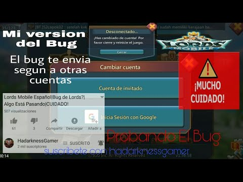 Bug Lords Mobile||Cambio De Cuentas||CUIDADO||Mi Version||SUSCRIBETE A HADARKNESSGAMER||#Bug Y Truco