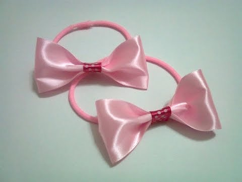 DIY : #12 Rubber Band Hair Bow (Using Ribbon) ♥