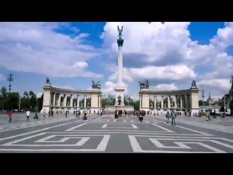 Hősök tere (Heroes' Square), Hiper Lapse Budapest N8-00