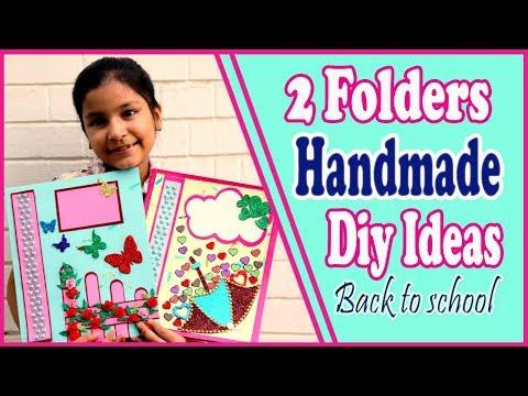 Latest Handmade Folder/How to make Handmade Folder/How to Decorate Folder for school  Aishmin Diy