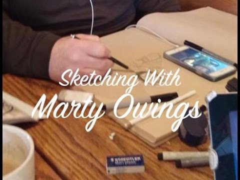 Sketching With Marty - A Featured Artist AND Holiday Gift Ideas