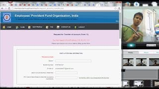 726 (EPF) How to Transfer Providend Fund PF account online ( Hindi)