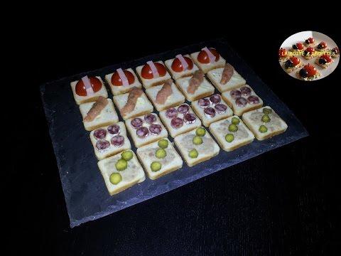 Farandole de toasts (Facile et rapide) - APERITIF DINATOIRE - LA BOITE A RECETTES