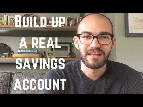 Build a REAL savings account!