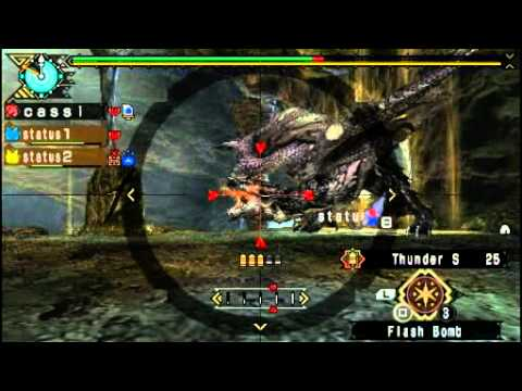 [MHP3rd] Silver Rathalos - Shooting wyverns in the sky (HR6) - LBG Thunder S 6:59 solo