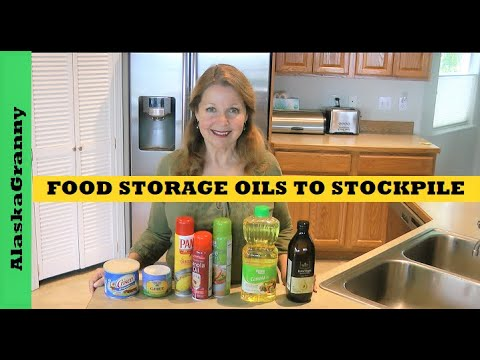 What Oils to Store Stockpile Long Term Food Supply