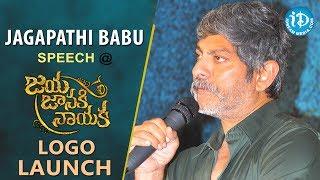 Jagapathi Babu Speech @ Jaya Janaki Nayaka Movie Logo Launch || Boyapati Srinu