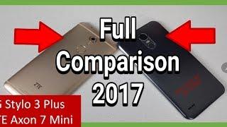 LG Stylo 3 Plus Vs Axon 7 Mini FULL COMPARISON 2017   Performance   Design   Camera