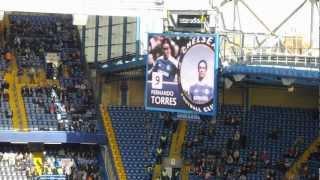 2012年3月10日のチェルシーVSストークの試合前選手紹介(Stamford Bridge...