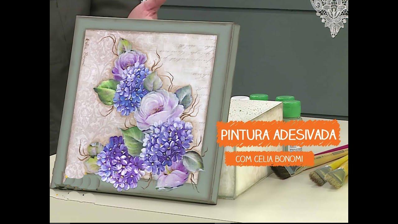 Adesivo De Parede Sala ~ Pintura Adesivada com Hort u00eancia com Celia Bonomi Vitrine do Artesanato na TV Rede Família