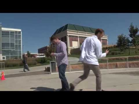 Distracted Walking Course on the UNMC campus