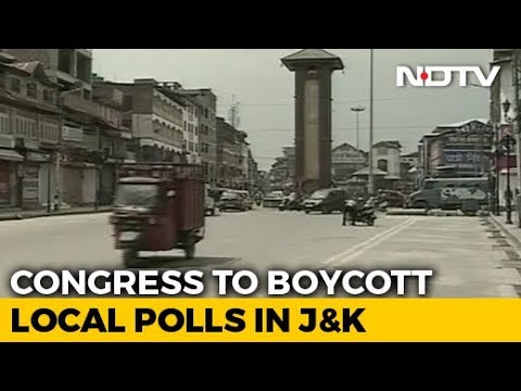 Congress To Boycott Local Elections In J&K Over Detention Of Leaders