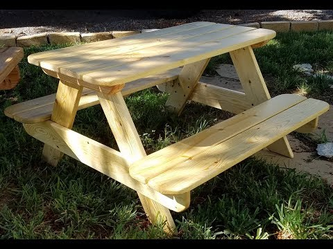 How to build toddler size kids picnic table