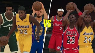 Greatest Point Guards vs Greatest Shooting Guards Of All Time! NBA 2K18 Challenge!