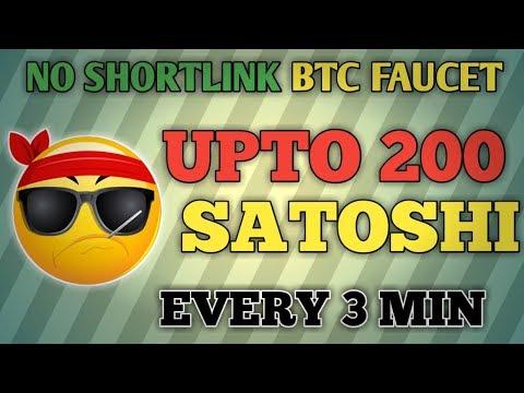 (NO SHORTLINK) UPTO 200 SATSOHI EVERY 3 MIN || NO ADS BITCOIN FAUCET || EARN FREE BITCOIN