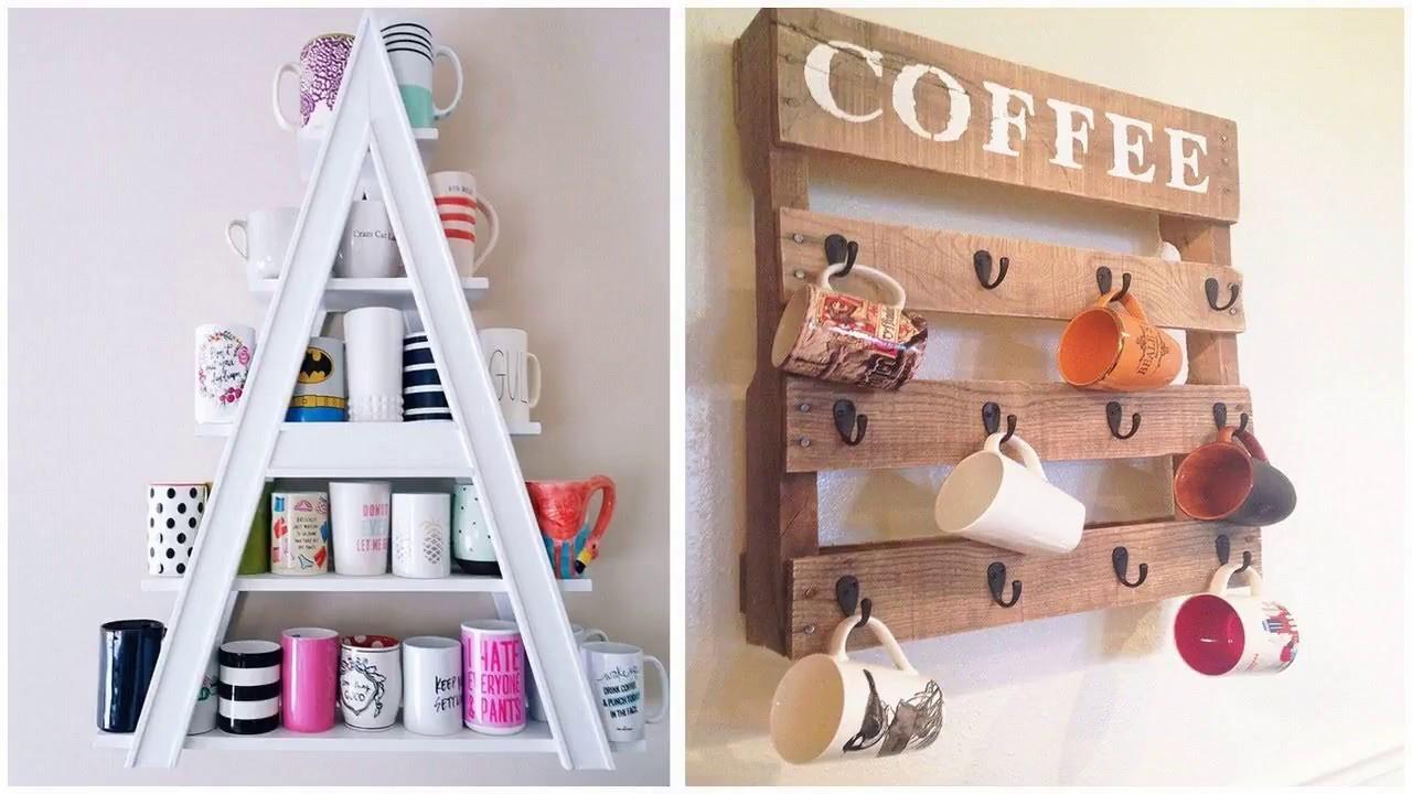Top 40 Amazing Coffe Cups Organizing Ideas Diy Craft Bar Ideas Mug Holder Milkmaid Recycling 2018