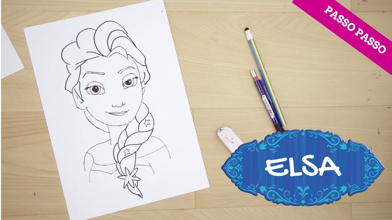 Come disegnare elsa di frozen tutorial passo passo youtube for Disegni di natale facili per bambini