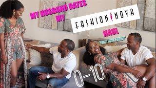 My Husband Rates My Fashion Nova Try On Haul