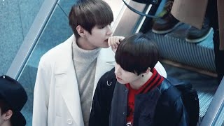 VKOOK has landed! [airport compilation]
