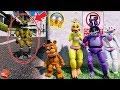 DON'T GET CAUGHT BY EVIL GOLDEN NIGHTMARE FOXY! (GTA 5 Mods For Kids FNAF RedHatter)