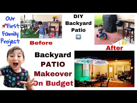 DIY Backyard Patio Makeover